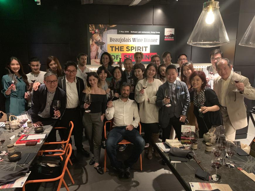 Beaujolais Wines press dinner at Prowine Hong-Kong 2019